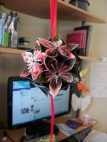 Dark Kusudama Ball by Jamethial