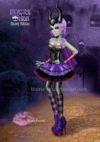 Maleficent at Monster High by kharis-art