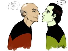Picard and Data by depplosion