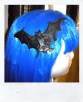 Black Bat Hair Clip by NarleysZone