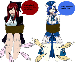 Erza And Juvia Feet part 2 by master417