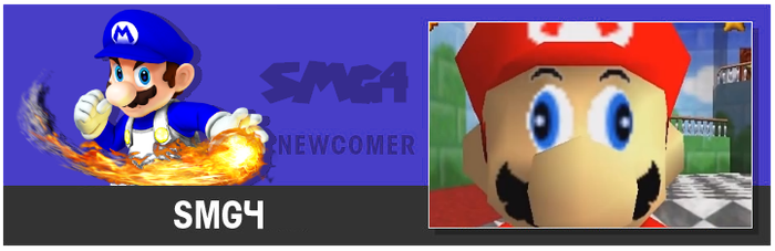 SSB4 SMG4 Website Button by GenesisMasterDA