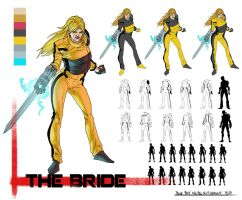 Kill Bill Sci-Fi Redesign The Bride by thecreatorhd