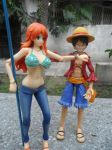 Luffy looks at Nami's log (VAH figures) by ThomasAnime