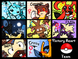 Victory Heart-Characters by RagingLove
