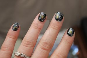 Nebula Galaxy Nail Art by Kaijere