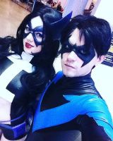 Huntress and Nightwing by GraysonFin