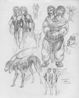sketches 127 -Conjoined twins- by Scarlet-Harlequin-N