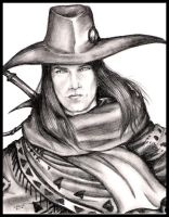 Vampire Hunter D pencil by Destinyfall