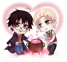 Happy Drarry Valentine by arisa-chibara