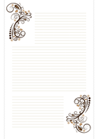 Free Stationary - Brown Swirls by cpchocccc