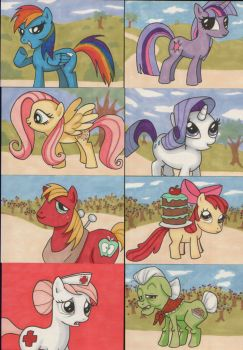 My Little Pony sketchcards 1 by angelacapel