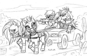 MLP postapocalyptic by Flick-the-Thief