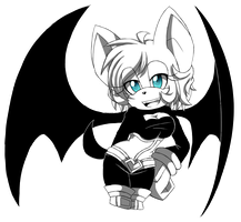 |Sketch| Rouge the Bat by moriomii
