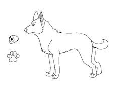 Doggy Lineart :Request: by machinewolf2