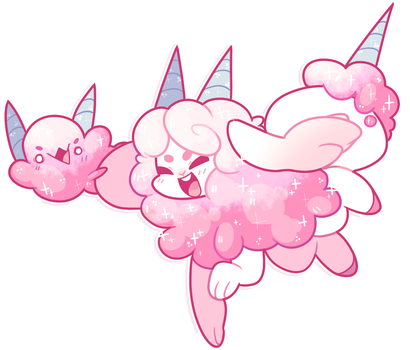 [Event Prize] A Cotton Candy Monster has appeared! by blushbun