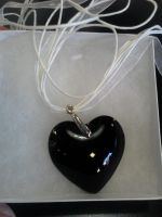 Black Heart Necklace by Undead-Academy