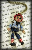 Beloved Raggedy Andy Doll Necklace by NeverlandJewelry