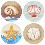 Sea Shells Buttons by ClefdeSoll