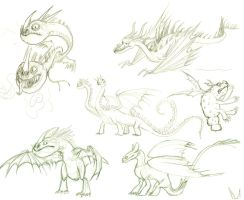 httyd sketches 2 of 2 by morowhitewolf