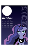 Illustrator Practice: October 2015 Pony Calendar by Great-5