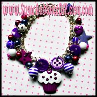 Frosted Cupcake Bracelet by wickedland