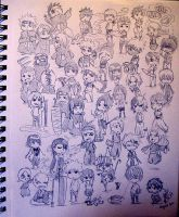 Chibi Sketches by i-SkEtCh-YoU