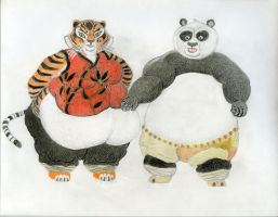 Kung Fu Panda Burly Tigress and Po version 2 Final by ENT2PRI9SE