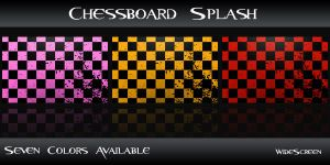 Chessboard Splash by Mickka