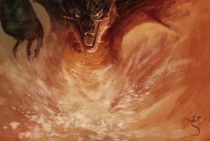 SMAUG!!!!! by lonedragon155