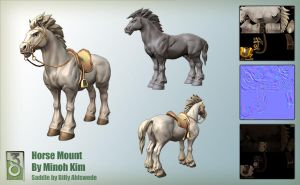 Horse Model and Sculpt by MinohKim