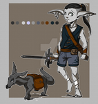 :OPEN: Elf Hunter Adoptable by MissMignonne