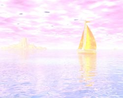 Golden Pink Sail by argel1200
