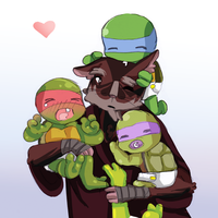 Papa Splinter by Tenshilove