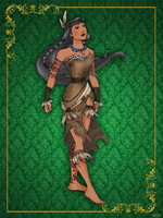 Queen Pocahontas- Disney Queen designer collection by GFantasy92