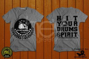 Pontianak drummers club t-shirt design by heygreen