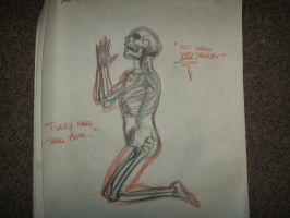 Skeleton-Figure study by aestheticartist