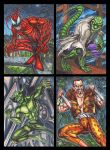 Spidey Villains sketch card commissions group 3 by AHochrein2010