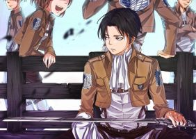 something on levi by Dewitrika
