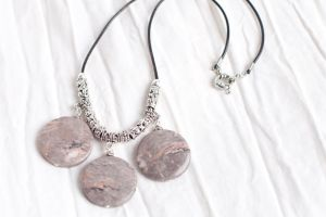 Jasper 3 stone necklace by alena-light