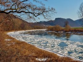 Weser in winter by Dieffi