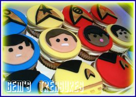 Live Long and Prosper Cupcake by gertygetsgangster