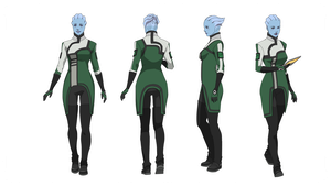 ME1:Liara T'Soni (Science uniform) by Wei723