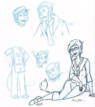 Littles Sketches by In-Tays-Head