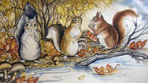 Squirrels finished by HouseofChabrier