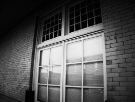 Station Windows (Black And White) by MissDevotion