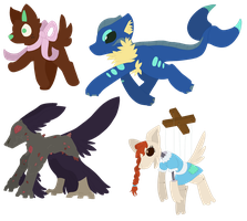 Adoptables!! 0/4 by CleverConflict