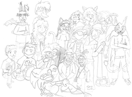 Group photo drawing by DoubleSNL