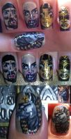 The mummy nail art by amanda04