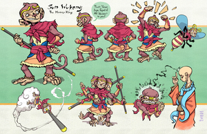sunWukong sheet01 by JoeWierenga